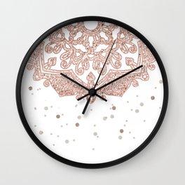 Peaceful showers Wall Clock