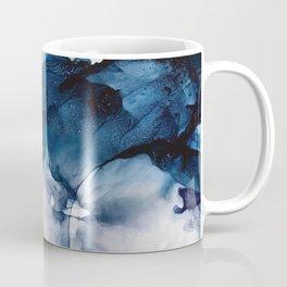 White Sand Blue Sea - Alcohol Ink Painting Coffee Mug