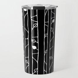 Into the Woods white on black Travel Mug