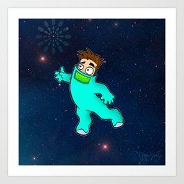 SpaceBoy Art Print