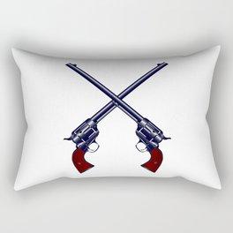 Crossed Guns Rectangular Pillow