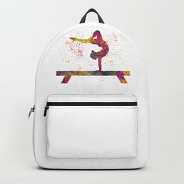 Rhythmic gymnastics competition in watercolor 05 Backpack