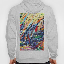 Abstract Art - Colorful Trees Hoody