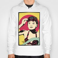 audrey Hoodies featuring Audrey by Vee Ladwa