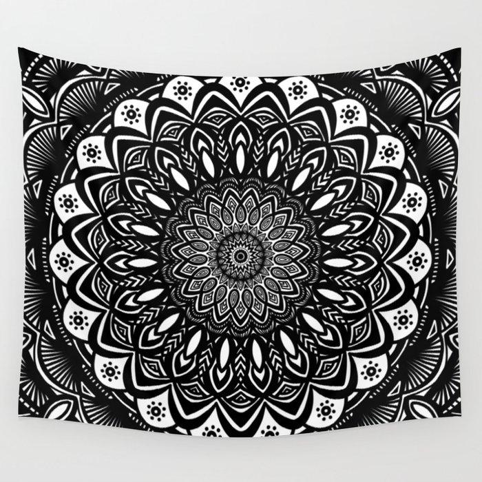 Bold Mandala Black and White Simple Minimal Minimalistic ...