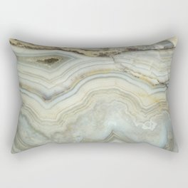 White Agate Rectangular Pillow