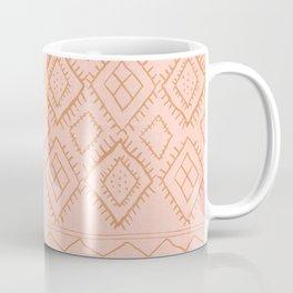 Beni Moroccan Print in Peach Coffee Mug