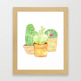 cactus friends Framed Art Print