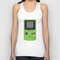 gameboy Tank Tops featuring GAMEBOY Color - Green by Cedric S Touati