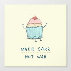 Make Cake Not War Canvas Print