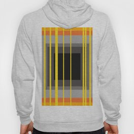 Yellow Stripes and black square pattern Hoody