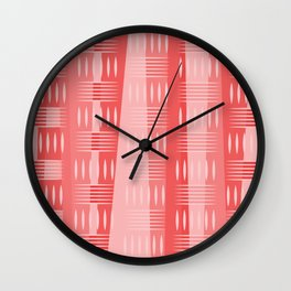 Geometric Forms in Pink Tones Wall Clock