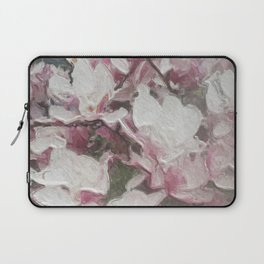 Magnolia Blooms in the Rain Laptop Sleeve