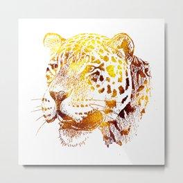 Golden Jaguar Metal Print
