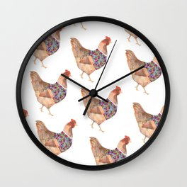 Sophisticated Chicken Wall Clock