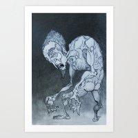 Nosferatu in fraganti Art Print