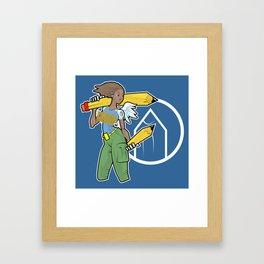 Pencil Warrioress Framed Art Print
