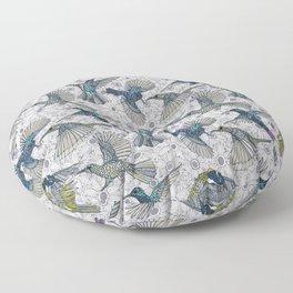 hum sun honey birds basalt Floor Pillow
