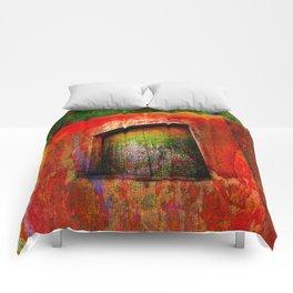 Door -Abstract Comforters