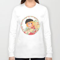 enjolras Long Sleeve T-shirts featuring Flowers by foxflowers
