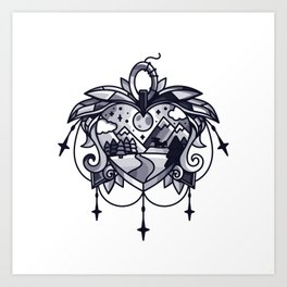 heart path Art Print