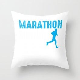 6 Stages of Marathon Running Runner Triathlon Run Throw Pillow