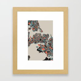 Auckland Multicoloured Print Framed Art Print