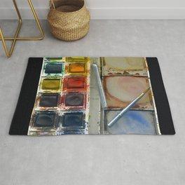 watercolor paintbox Rug