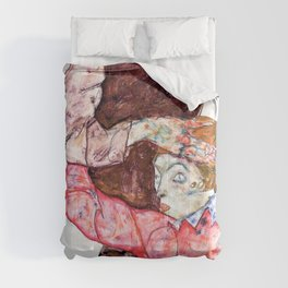 Egon Schiele - Lovers - Digital Remastered Edition Comforters
