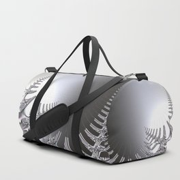 Abstract crystal fern Duffle Bag