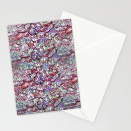 Grunge Organic Rocks Motif Pattern Stationery Cards