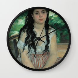 "Auguste Renoir ""En été - La bohémienne (In summer - Gypsy woman)"" Wall Clock"