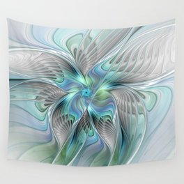Abstract Butterfly, Fantasy Fractal Art Wall Tapestry