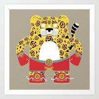 jaguar Art Prints featuring Jaguar by EinarOux