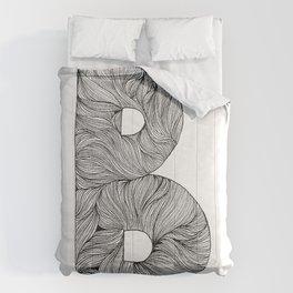 Hand Drawn Font B Comforters