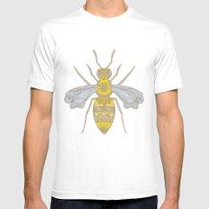 Mr Bee Mens Fitted Tee White MEDIUM
