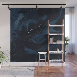 Abstract Astronomy in Dark Blue Wall Mural