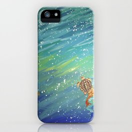 Turtle landscape iPhone Case