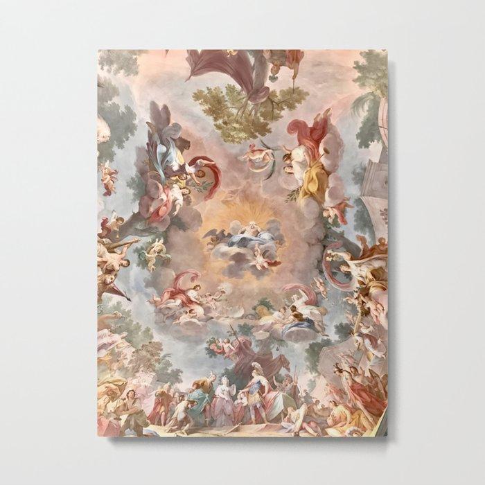 The Royal Palace of Casertas, Caserta Italy Metal Print