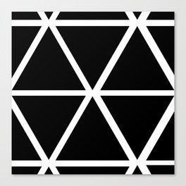 BLACK & WHITE TRIANGLES Canvas Print
