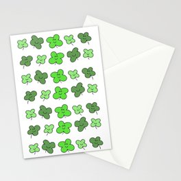 happy clover rows! Stationery Cards