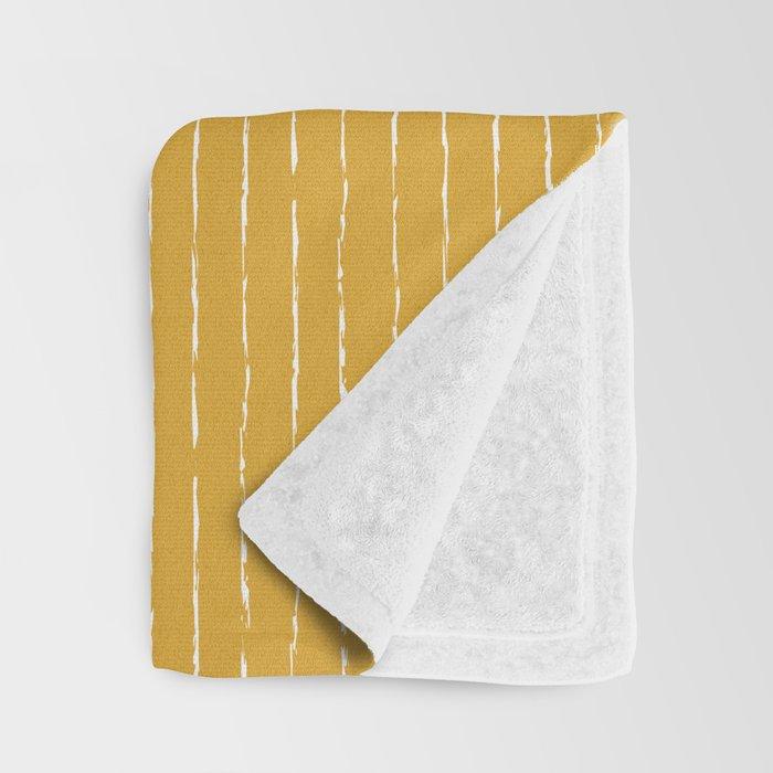Lines / Yellow Throw Blanket