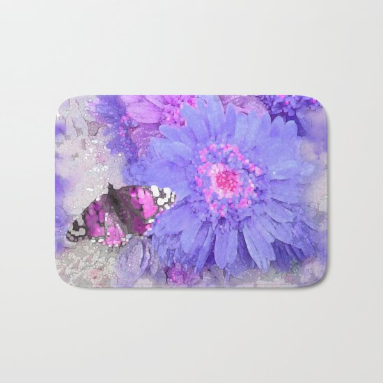 Daisy and Butterfly Bath Mat