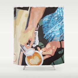 Heart of the Barista Shower Curtain