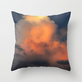 Mystical Cloud Combustion Throw Pillow