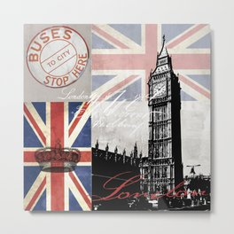 London Collage Metal Print