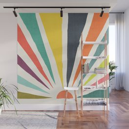 Rainbow ray Wall Mural
