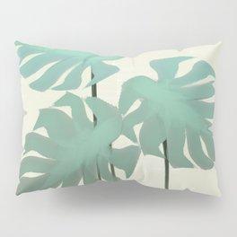 Tropical Monastera Spring Pillow Sham