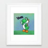 yoshi Framed Art Prints featuring Yoshi by belindazart