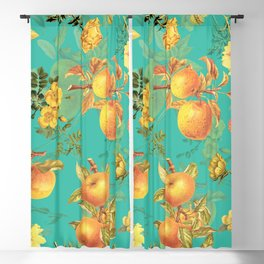 Vintage & Shabby Chic - Summer Golden Apples Garden Blackout Curtain
